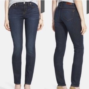 Madewell Alley Straight Dark Rinse Jeans 26